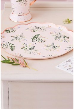 Rose gold Ginger Ray 8 Floral Paper Plates