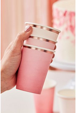 Rose gold Ginger Ray 8 Foiled Pink Ombre Paper Cups