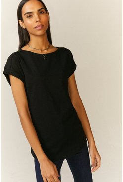 Black Organic Cotton Slub T-Shirt
