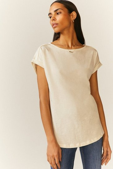 Ivory Cotton Slub T-Shirt