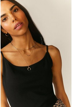 Black Cami Organic Cotton Top