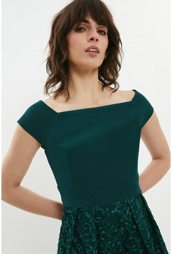 Forest Embroidered Midi Dress