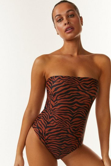 Animal Tie Strap Swimsuit