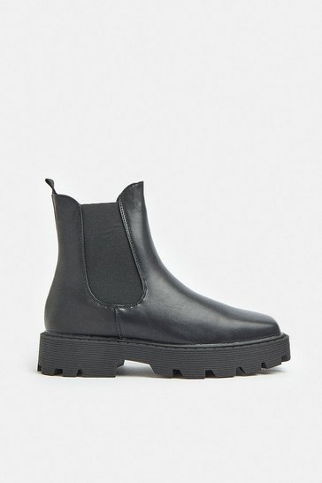 Black Chunky Sole Boots