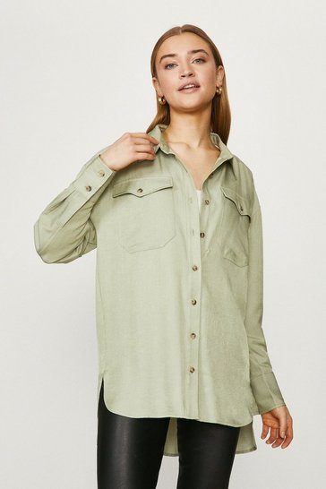 Sage Luxe Oversized Shirt