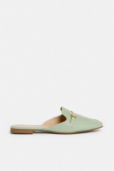 Sage Cross Bar Backless Loafer