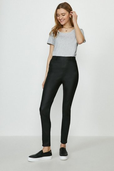 Black Rome Flat Front Coated Jegging