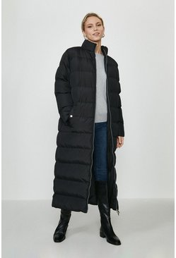 Black The Rockn Rev Longline Puffer Coat