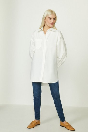 Ivory Relaxed Poplin Shirt