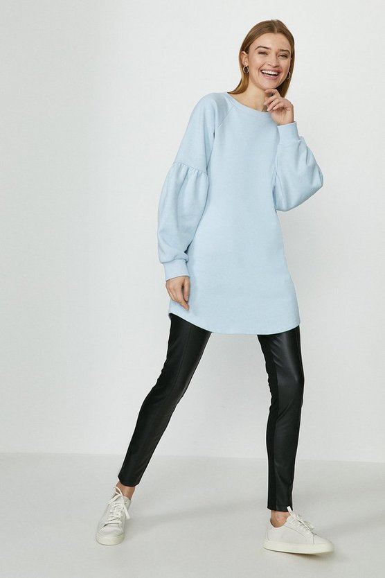 Pale blue Drop Sleeve Sweat Dress