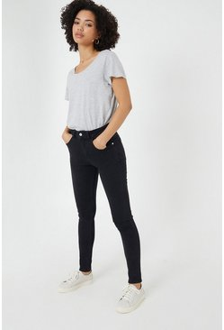 Black Brooklyn Slim Mid Rise Jean