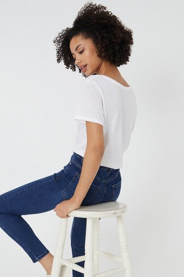 Mid wash Brooklyn Slim Mid Rise Jean
