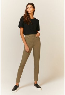 Khaki London Skinny High Waisted Shaper Jean