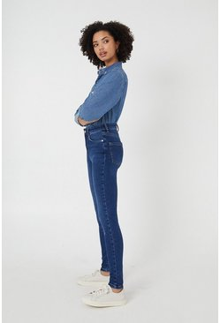 Mid wash London Skinny High Waisted Shaper Jean