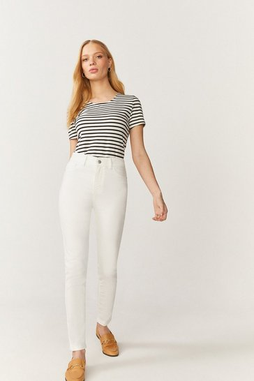 Ecru New York Power Stretch Jegging