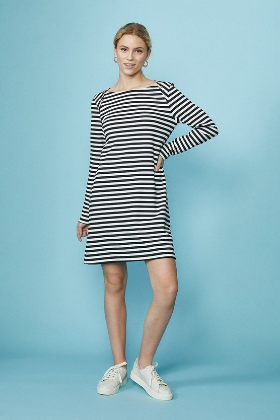 Ink Jersey Stripe Interlock Dress