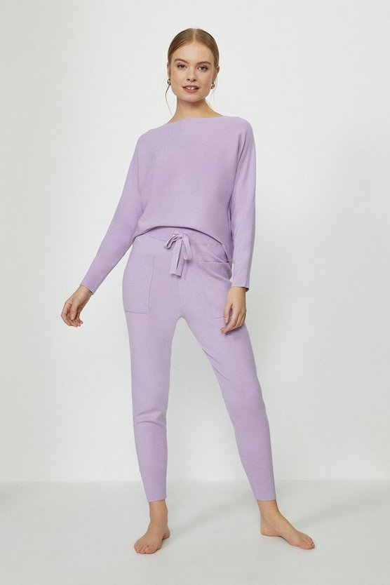 Lilac Brushed Knit Jogger
