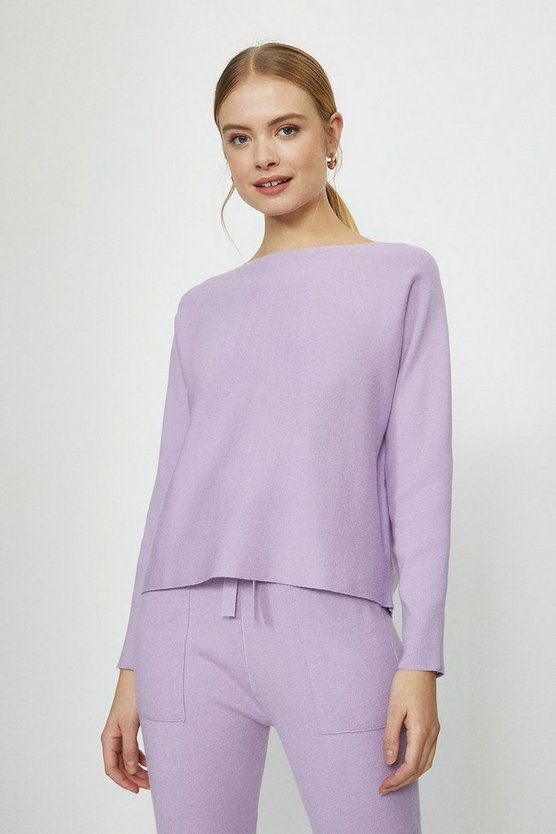 Lilac Brushed Knit Top