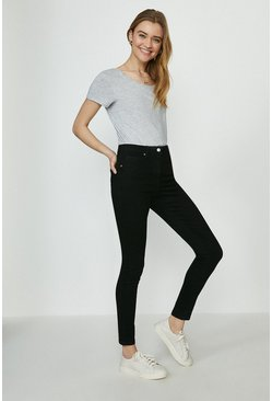Black Milan Organic Cotton Sculpting Skinny Jean