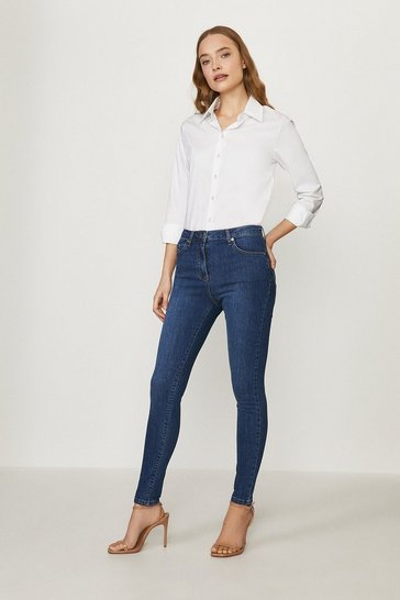 Mid blue Milan Organic Cotton Sculpting Skinny Jean