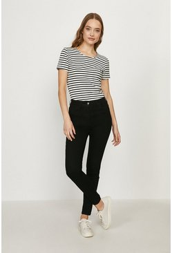 Black Paris Organic Cotton High Rise Skinny Jean