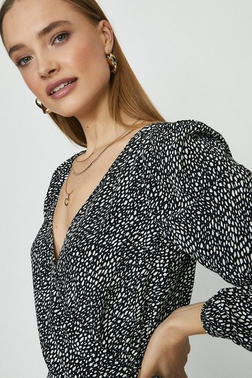 Mono Brave Soul Long Sleeve Wrap Top