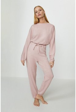 Blush Soft Touch Sweat And Jogger Lounge Set