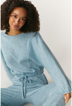 Pale blue Soft Touch Sweat And Jogger Lounge Set