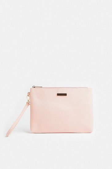 Blush Wrist Strap Clutch Bag