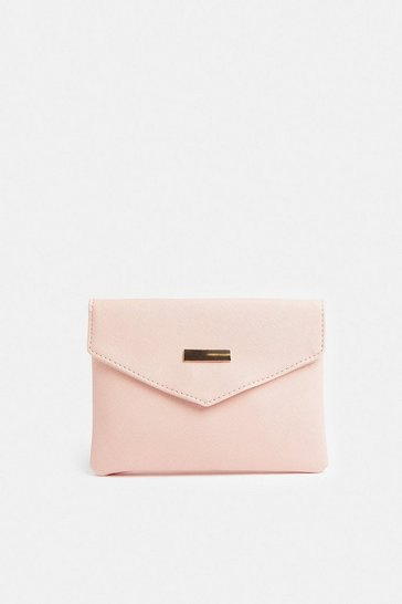 Blush Envelope Clutch Bag