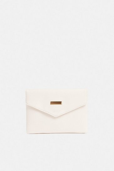 White Envelope Clutch Bag