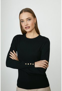 Black Crew Neck Jumper