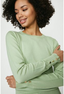 Sage Crew Neck Jumper