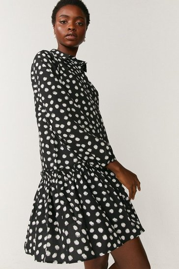 Mono Tiered Shirt Dress
