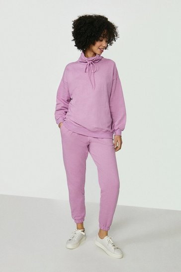Lilac Pastel Hoody And Jogger Lounge Set