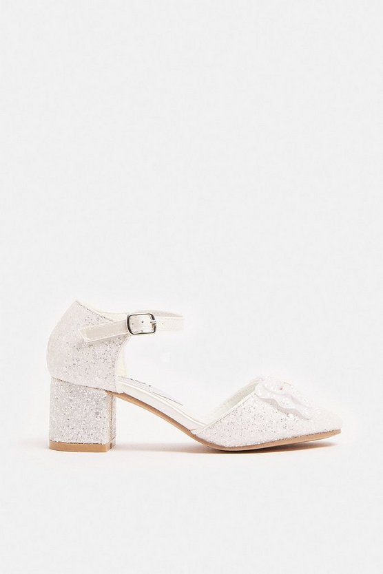 Ivory Girls Glitter Shoes
