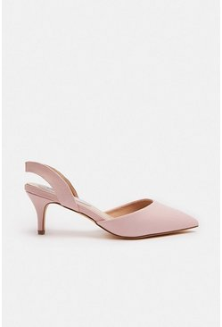 Blush Sling Back Pointed Court Shoe