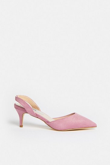 Dark pink Sling Back Pointed Court Shoe
