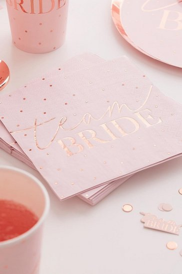 Blush Ginger Ray Team Bride Napkins