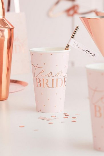 Blush Ginger Ray Team Bride Paper Cups
