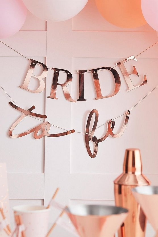 Rose gold Ginger Ray Bride To Be Slogan Bunting