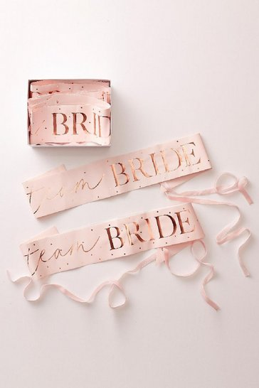 Blush Ginger Ray Team Bride 6 Pack Sash Pack