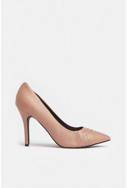 Nude Front Detail Pointed Court Shoe