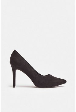 Black Pointed Court Shoe
