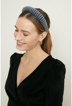 Midnight Beaded Statement Headband