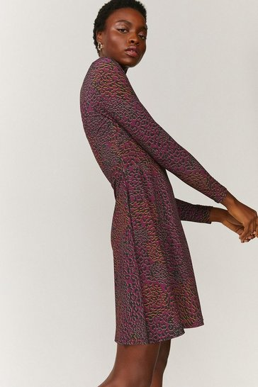 Fig Printed Wrap Dress