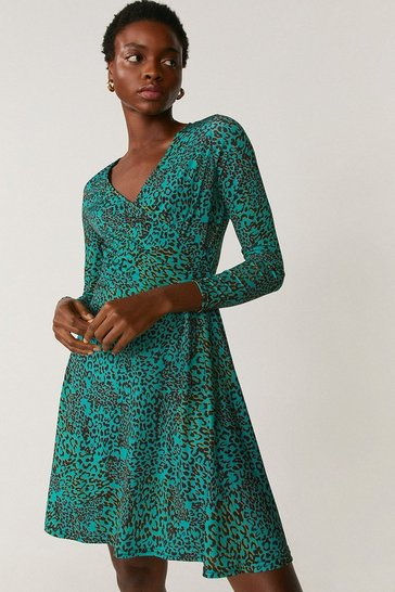 Forest Printed Wrap Dress