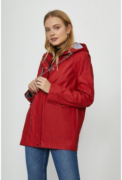 Red Short Raincoat