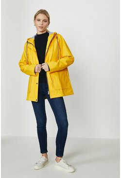 Yellow Short Raincoat