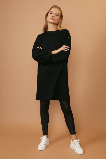 Black Popper Tunic Dress